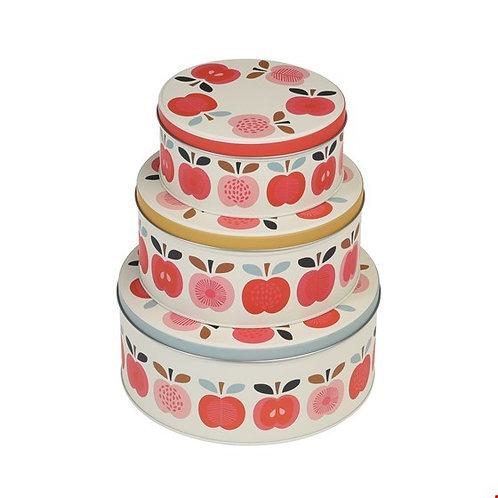 Vintage appel dozen set blik