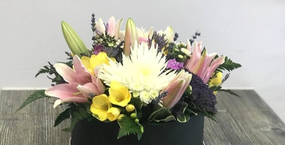 Fresh Flower Hatbox