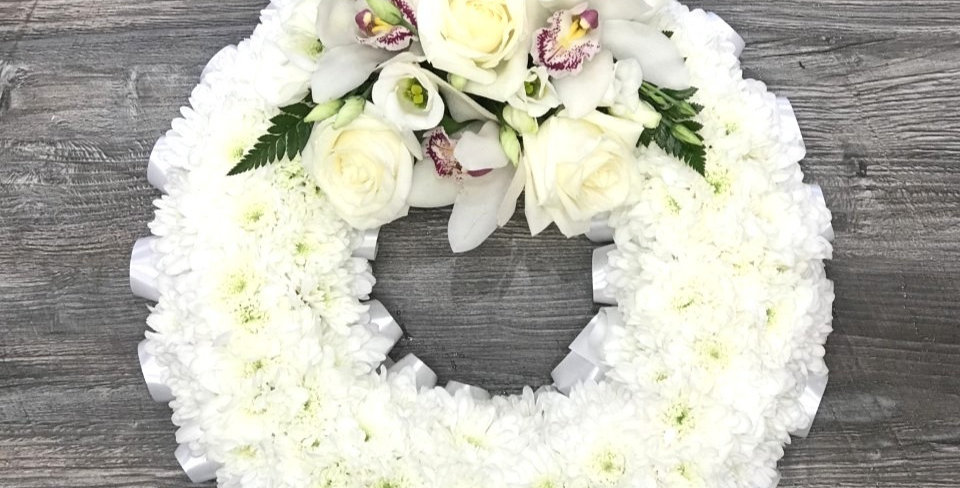 Traditional White based Wreath