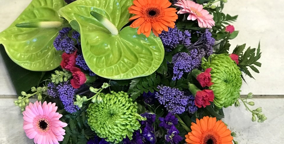Vibrant Funeral Spray
