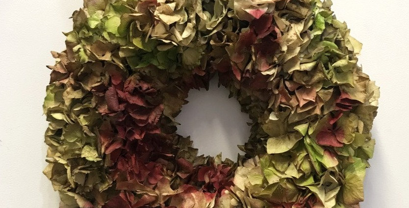 Dried Hydrangea Door Wreath