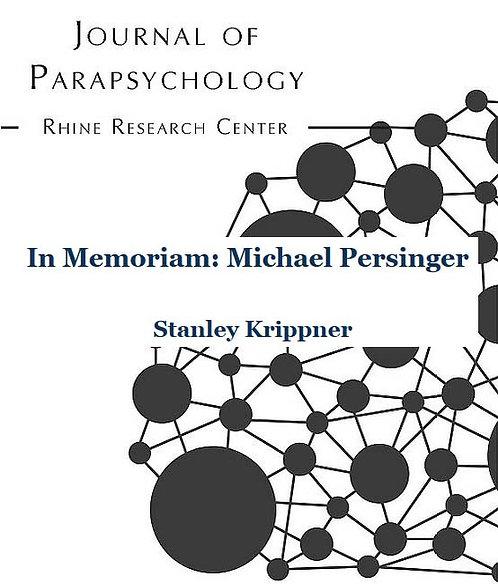 In Memoriam: Michael Persinger