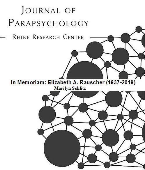 In Memoriam: Elizabeth A. Rauscher (1937-2019)