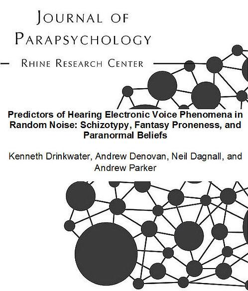 predictors of hearing electronic voice phenomena