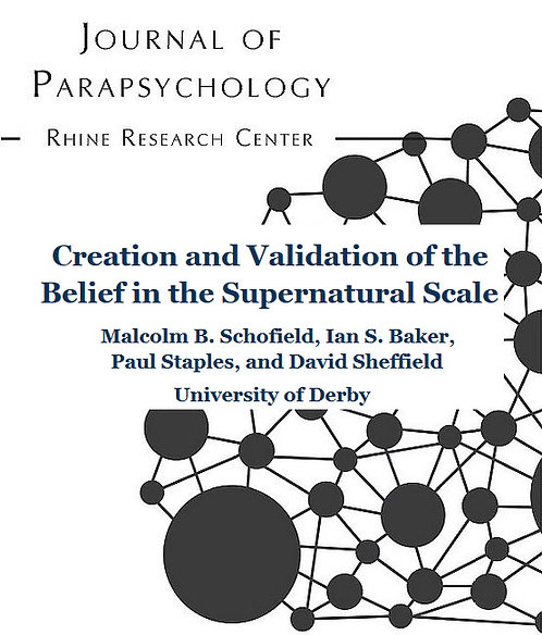 Creation and Validation of the Belief in the Supernatural Scale
