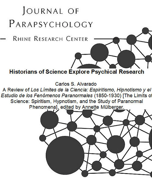 Historians of Science Explore Psychical Research