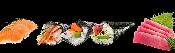 Nigiri, temaki y sashimi