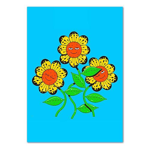 'Flowerz' Print