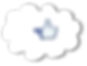 Logotype Facebook cloud