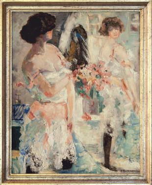 FRITZ SURKOW - Mädchen vor dem Spiegel