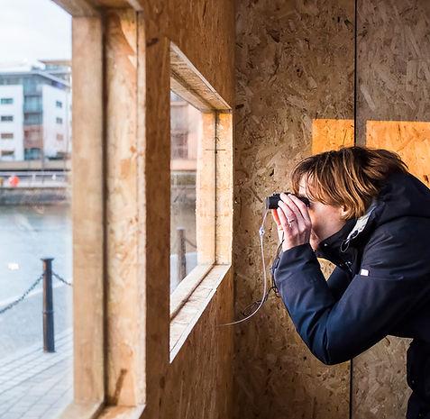 Sara Heywood, The Bird Hide, art, installation, mixed media, Bow Arts, art in education, RAW Labs,