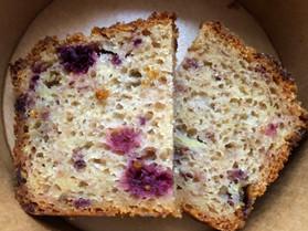 Mulberry almond cake