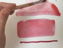 Experimenting with mark making using mulberry ink