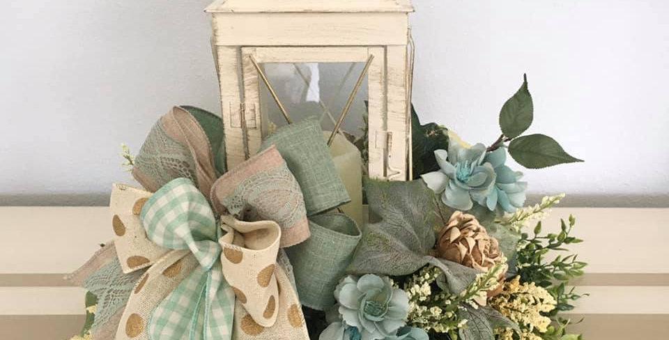 Custom Floral Design Lantern