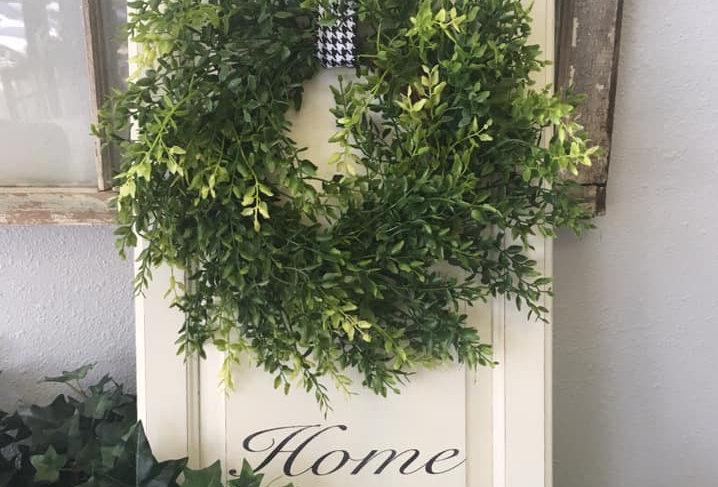 Custom Created Sign w/ Wreath