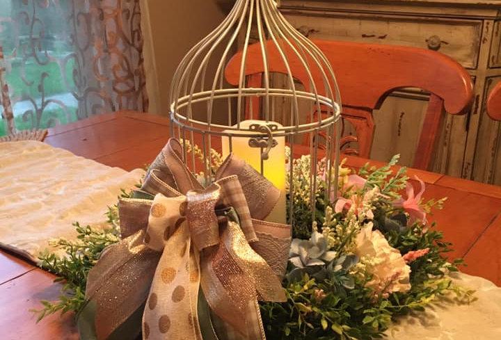 Custom Floral Design Birdcage