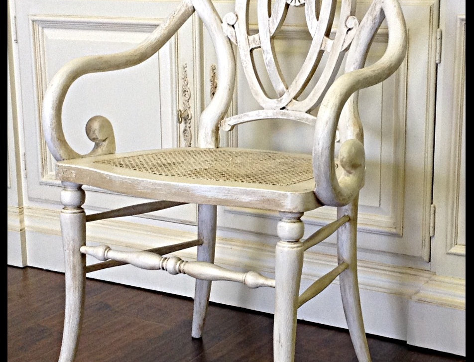 Vintage Hand Carved Accent Chair
