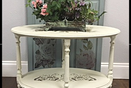 Vintage Rolling Accent Table