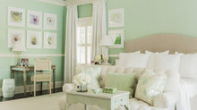 Decorating with various shades of Green