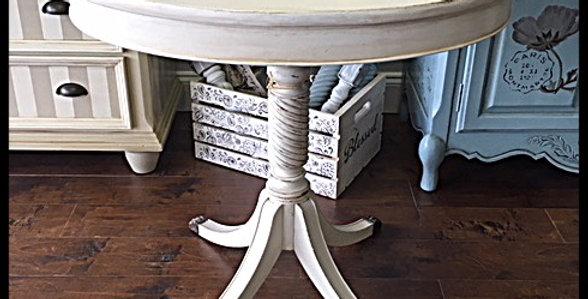 Antique Oval Pedestal Table (5751)