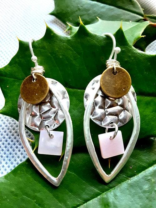 Pink/Teardrop Dangle Earring