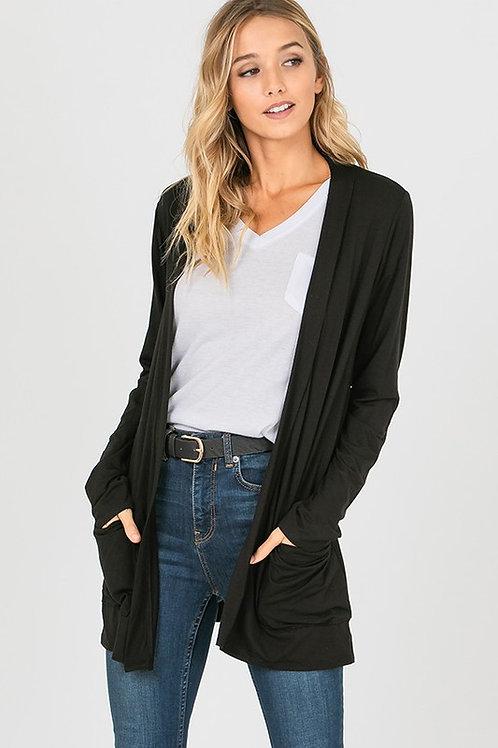 Modal Solid Knit Cardigan