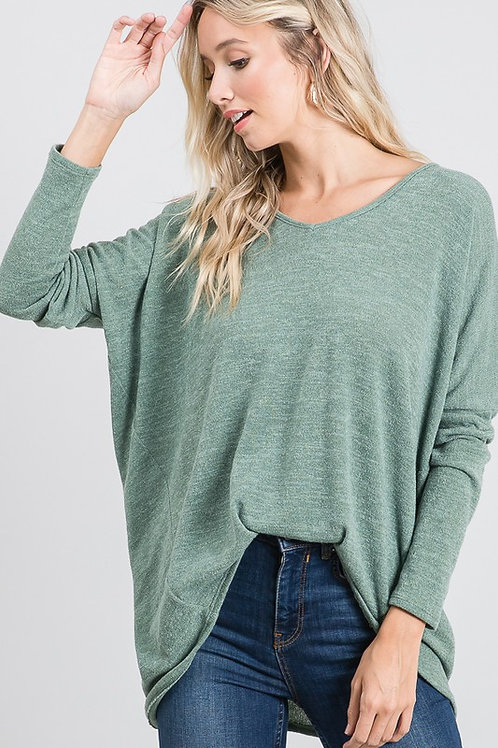 Simply Chic Oliver's Twist High-Low Knit