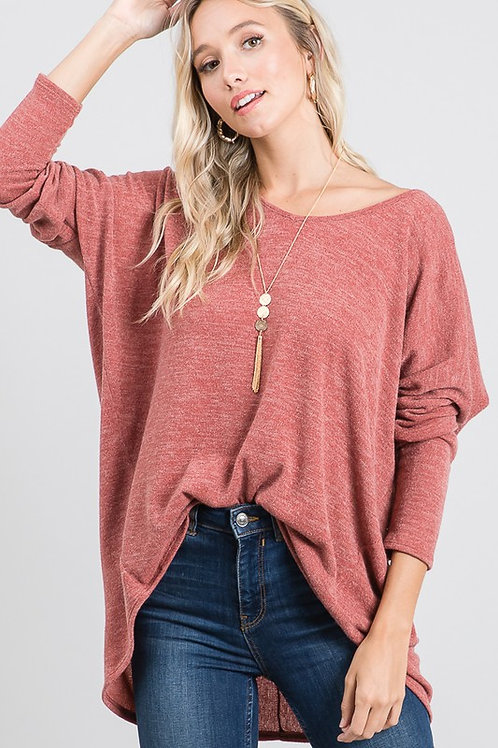 Simply Chic Country Apple High-Low Knit