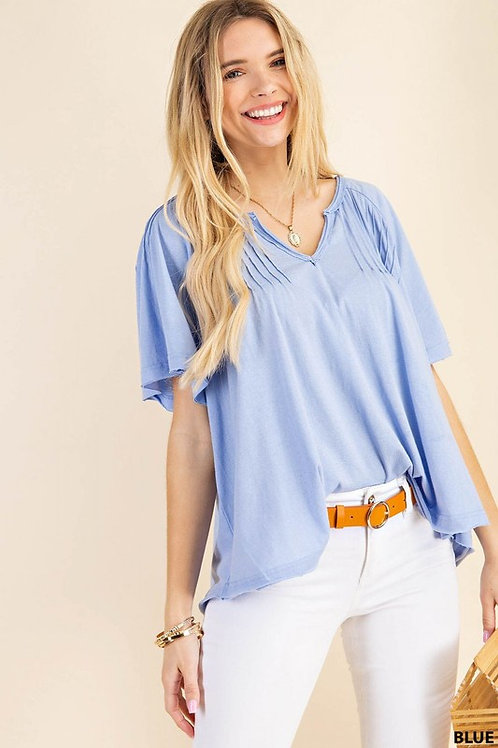 Blue Skies Casual Knit Top