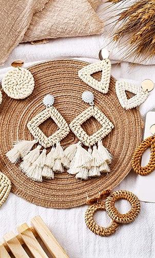 BoHo•Ratan•Dangle•Earrings