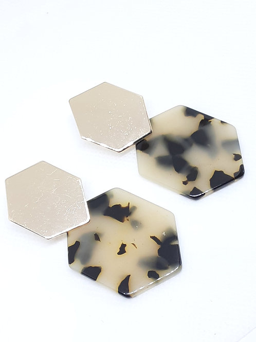 Geo Cheetah Earrings