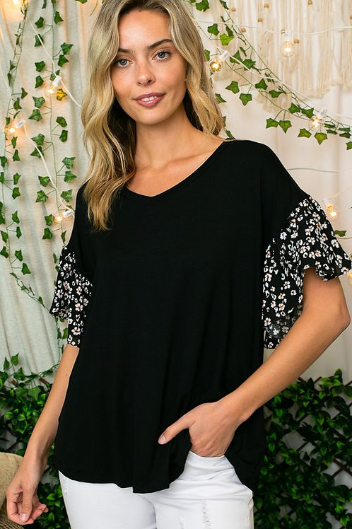 Midnight Blooms Knit Top