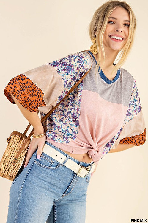 Everything's Dandy Color Block Top