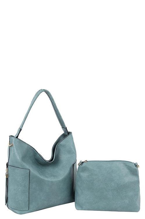 Teal Blue Waters Vegan Bag Set