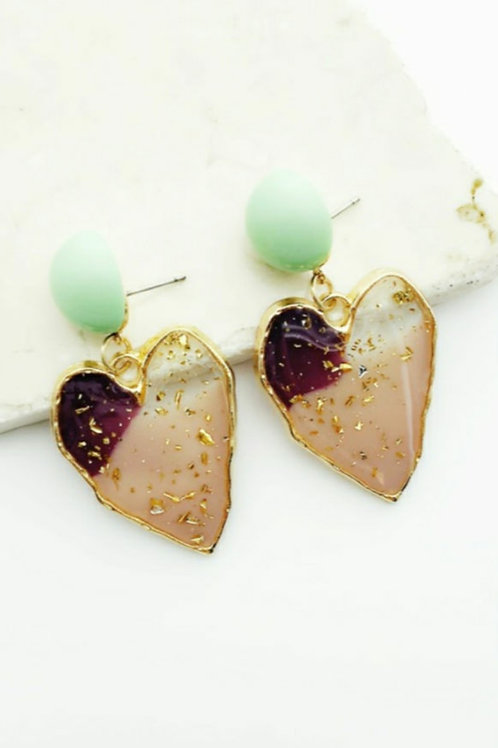 Jaded Heart Earrings