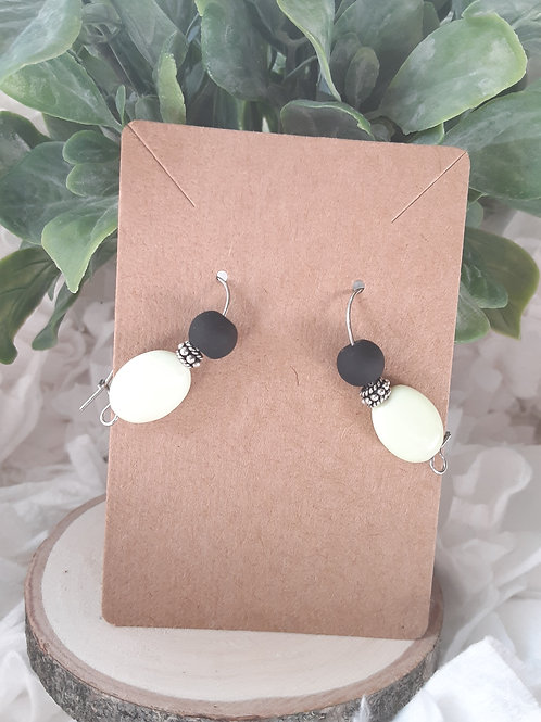 "Lime & Matte Black 1"" Earrings"