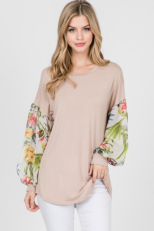 Tropical Paradise Chic Knit Top