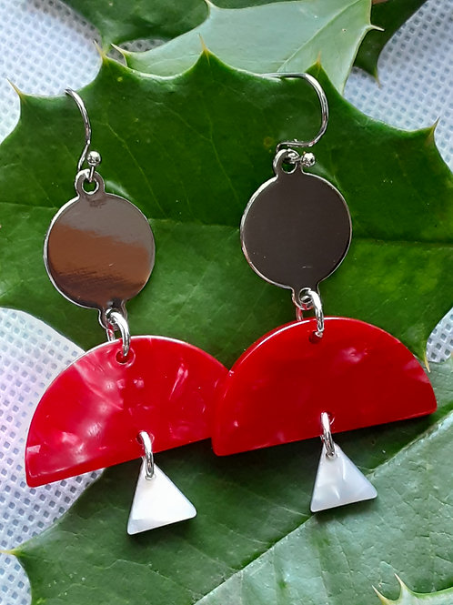 Geo-red-Tastic Earrings