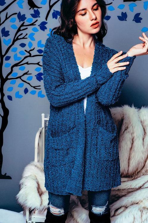 Soft & Cozy Navy Blue Cardigan