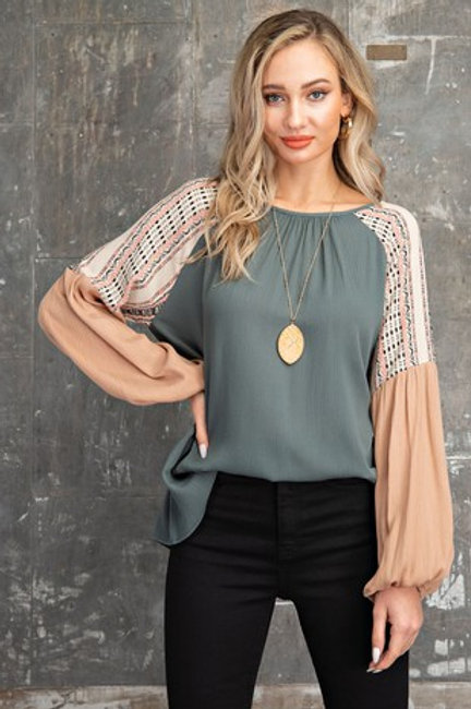 Autumn Peach Chic Knit Blouse