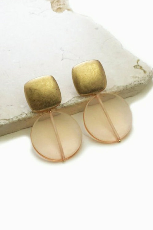 Stud Muffin Earrings/Taupe