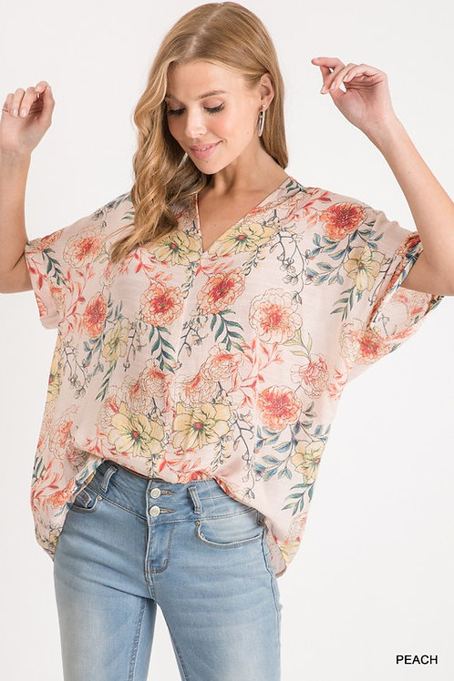 Southern Peach Knit Top