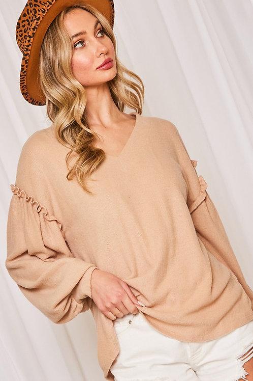 Oversized Tan & Tonic Sweatshirt Knit