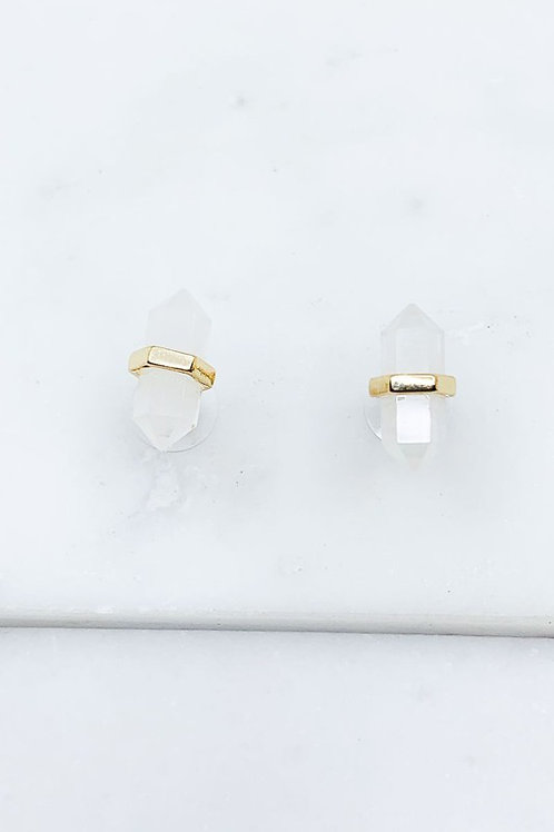 Dainty Stone Earrings