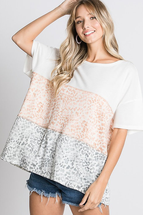 Simply Cheetah Knit Tee