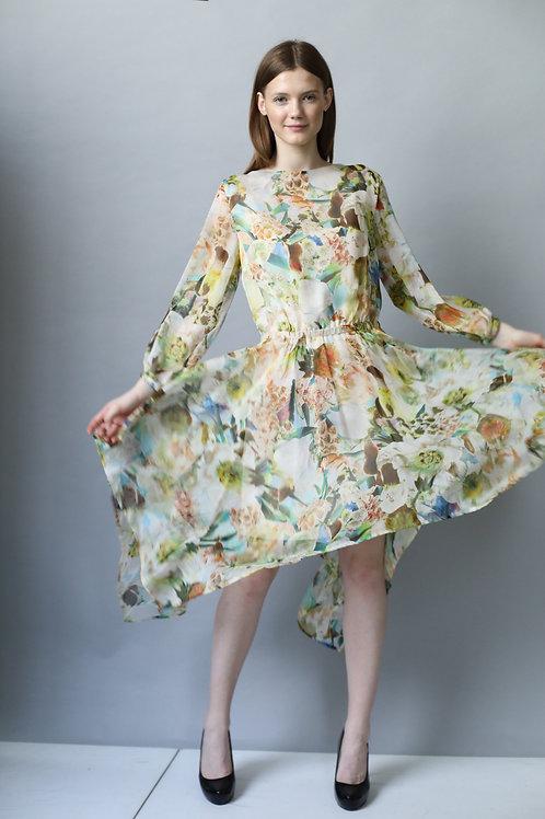 Sukienka PEPE green silk