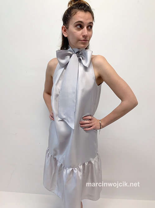 Sukienka GOLDY gray silk