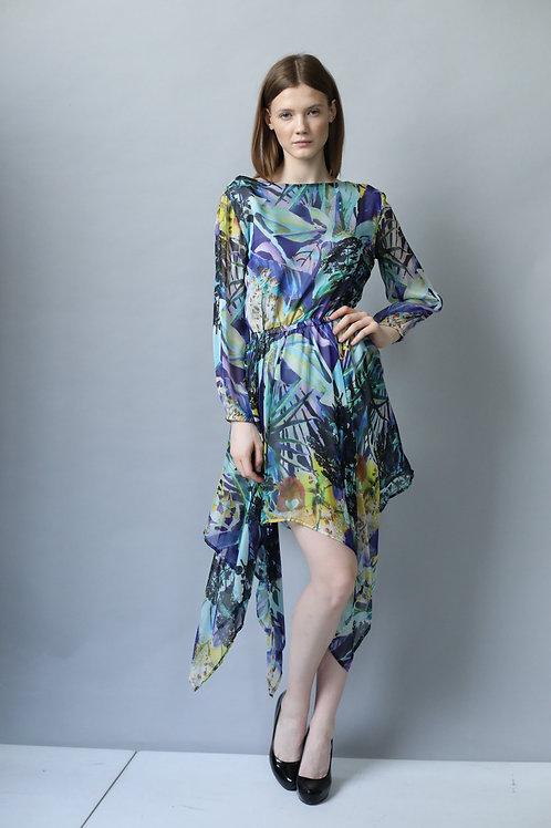 Sukienka PEPE blue silk