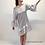 Thumbnail: Sukienka DOROTHY gray silk