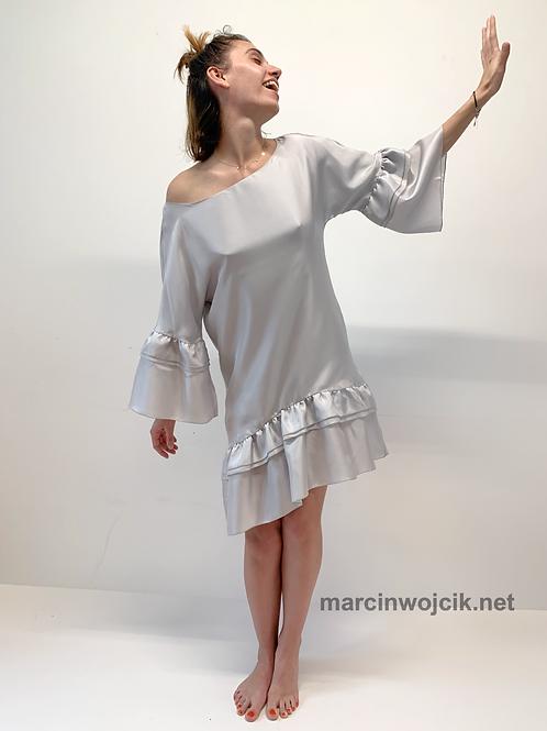 Sukienka DOROTHY gray silk
